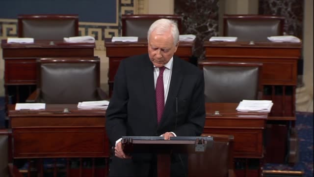 utah senator orrin hatch says supreme court nominee judge brett kavanaugh personally told him that he hoped people would actually read his opinions... - brett kavanaugh stock videos and b-roll footage