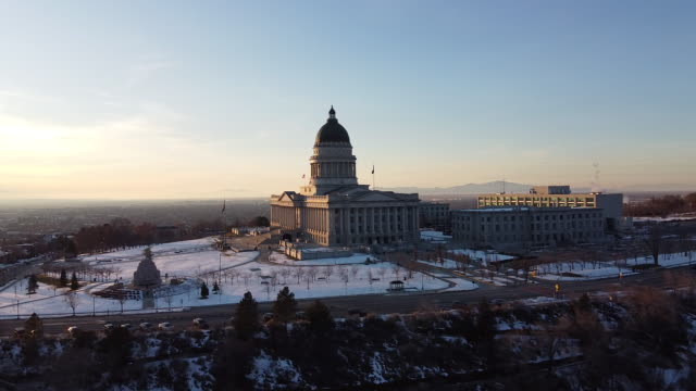 utah state capital building - capital cities stock videos & royalty-free footage