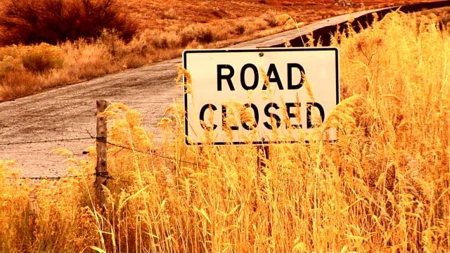 utah - road closed sign stock videos & royalty-free footage