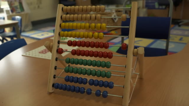 utensils and toys inside a nursery classroom - pencil stock videos & royalty-free footage