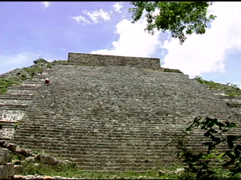 uxmal mayan ruins site in yucatan mexico 2 - puuc region stock videos and b-roll footage