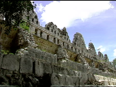 uxmal mayan ruins site in yucatan mexico - puuc region stock videos and b-roll footage