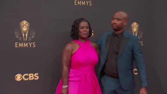 uzo aduba and robert sweeting arrive to the 73rd annual primetime emmy awards at l.a. live on september 19, 2021 in los angeles, california. - emmy awards stock videos & royalty-free footage