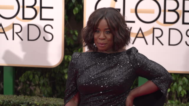Uzo Aduba at 73rd Annual Golden Globe Awards Arrivals at The Beverly Hilton Hotel on January 10 2016 in Beverly Hills California 4K