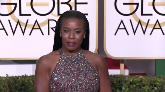 Uzo Aduba at the 72nd Annual Golden Globe Awards Arrivals at The Beverly Hilton Hotel on January 11 2015 in Beverly Hills California
