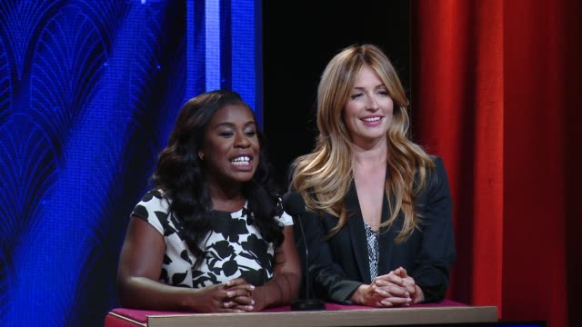 vídeos y material grabado en eventos de stock de uzo aduba, cat deeley & bruce rosenblum announce the 67th primetime emmy awards nominations at silverscreen theater at the pacific design center on... - premios emmy