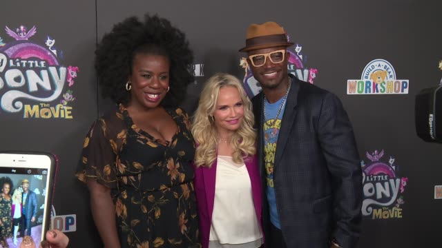 Uzo Aduba Kristin Chenoweth and Taye Diggs at Lionsgate Presents The New York Special Screening Of My Little Pony at AMC Lincoln Square Theater on...