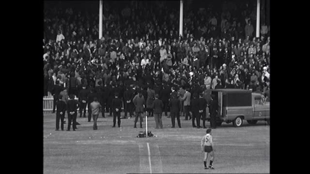v south africa rugby match - commentary from ex wallaby rex mossop: lineout throw to fight melee in crowd near fence as police confront protesters -... - 1971年点の映像素材/bロール