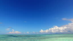 v02308 Maldives beautiful beach background white sandy tropical paradise island with blue sky sea water ocean 4k