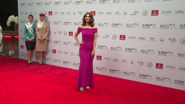 vaani kapoor at 2016 dubai international film festival day 2 at madinat jumeirah on december 8 2016 in dubai united arab emirates - 2日目点の映像素材/bロール