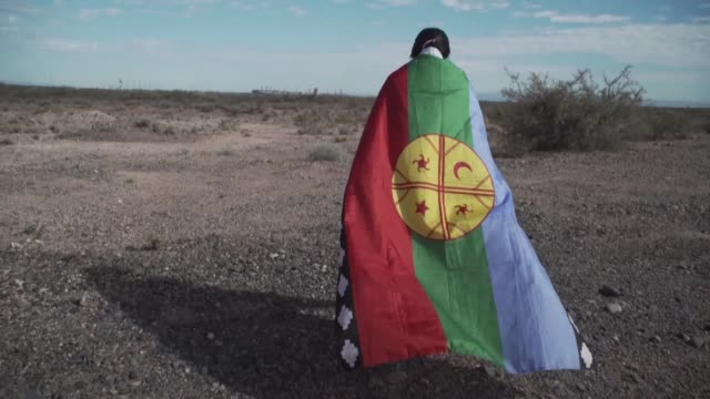 vaca muerta the world's second largest reserve of shale gas and fourth largest reserve of oil is home to the indigenous mapuche people and they warn... - footage technique stock videos and b-roll footage