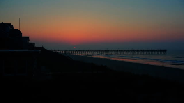 vacation homes on topsail island - nc outer banks - beach house stock videos & royalty-free footage