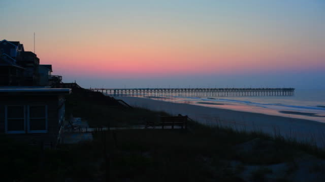 vacation homes on topsail island - nc outer banks - villa stock videos & royalty-free footage
