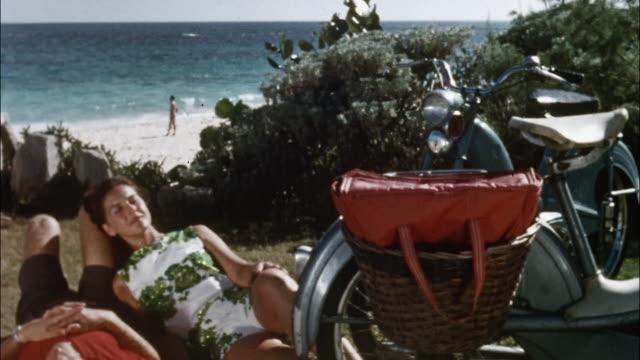 vacationers relax in bermuda. - bermuda stock videos & royalty-free footage