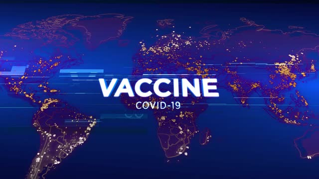 4k vaccine covid-19 - media tv animation graphic background. broadcast design concept. coronavirus spreads worldwide - documentary footage stock videos & royalty-free footage