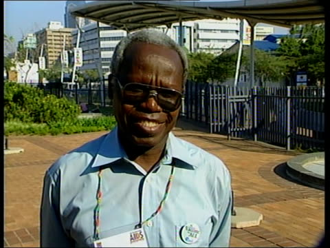 vaccine initiative launched:; itn south africa: durban: professor jeckomiah ndinya-achola interview sot - any vaccine should be developed with them... - beneficiary stock videos & royalty-free footage