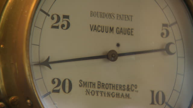 vacuum gauge at papplewick pumping station - pumping station stock videos & royalty-free footage