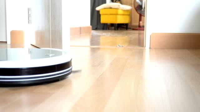 vacuum - wooden floor stock videos & royalty-free footage