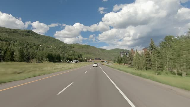 vail 8 synced series front highway 70 summer driving - number 8 stock videos & royalty-free footage