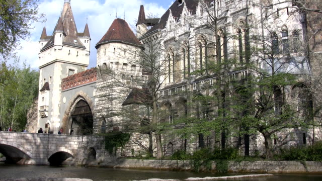 vajdahunyad castle in budapest (hd) - hungary stock videos & royalty-free footage