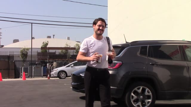 val chmerkovskiy outside dancing with the stars rehearsal studio in hollywood in celebrity sightings in los angeles - dancing with the stars stock videos & royalty-free footage
