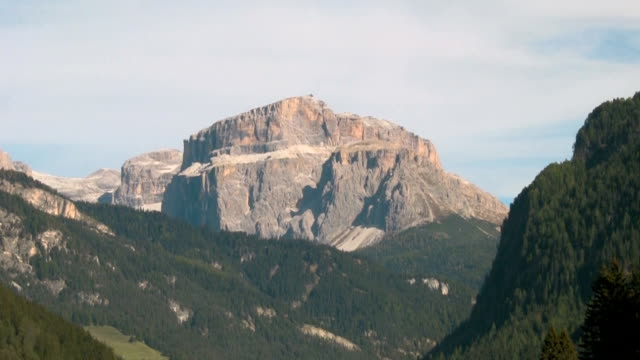 val di fassa, view of a great mountain range. - val di fassa stock videos and b-roll footage
