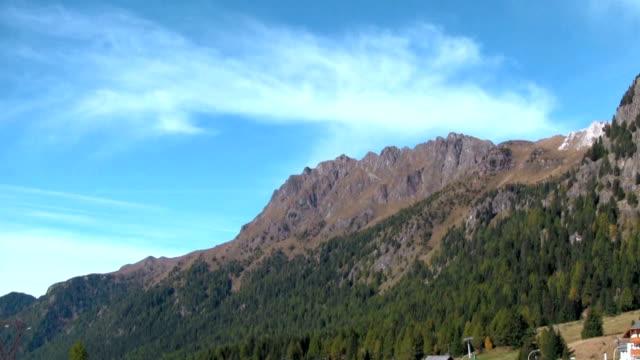 val di fassa, view of tourist resort. - val di fassa stock videos and b-roll footage
