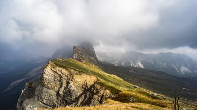 Val Gardena from peak Seceda