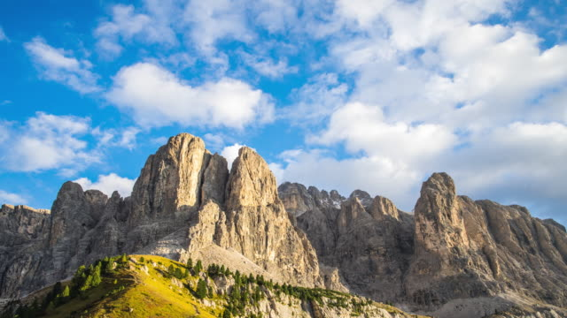 val gardena timelapse day to dusk,italy - day to dusk stock videos & royalty-free footage