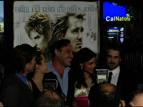 Val Kilmer Angelina Jolie Oliver Stone Rosario Dawson Jared Leto and Colin Farrell at the 'Alexander' Premiere Arrivals at Grauman's Chinese Theatre...