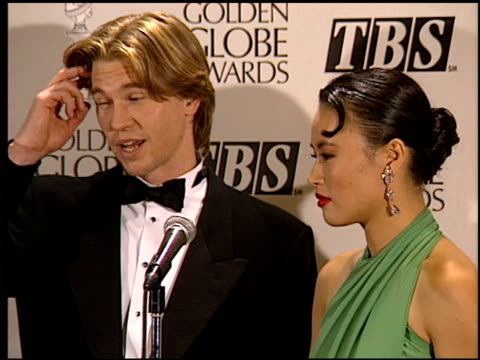 val kilmer at the 1994 golden globe awards at the beverly hilton in beverly hills, california on january 22, 1994. - val kilmer stock videos & royalty-free footage