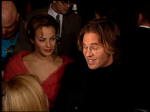 val kilmer at the 'at first sight' premiere at the bruin theatre in westwood, california on january 12, 1999. - val kilmer stock videos & royalty-free footage