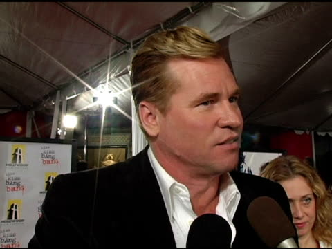 Val Kilmer on the movie and about kissing a man at the 'Kiss Kiss Bang Bang' Los Angeles Premiere at Grauman's Chinese Theatre in Hollywood...