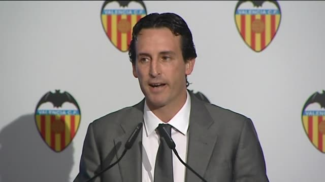Valencia 12 May An emotional Unai Emery received a gold and diamond insignia from the club at a farewell ceremony at the Mestalla stadium The...