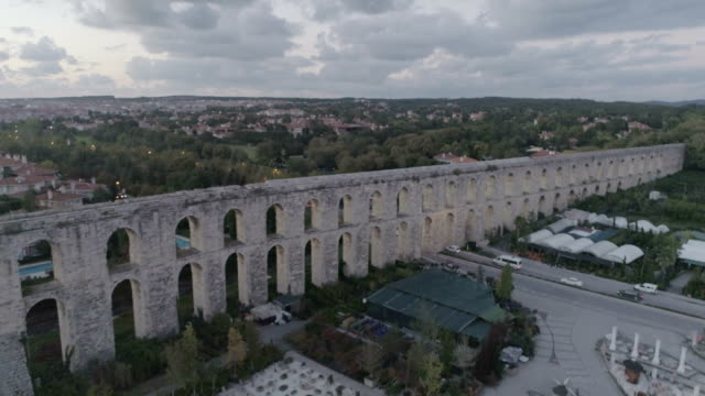 valens aqueduct, istanbul - water pipe stock videos & royalty-free footage