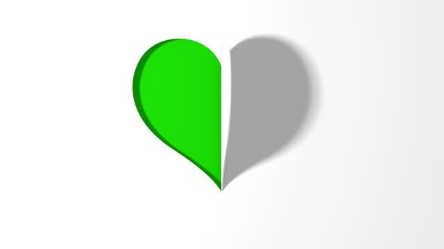 vidéos et rushes de carte valentine - papier origami heart (loop 4k) - origami