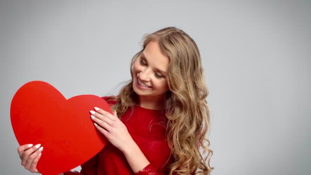 valentine card/debica/poland - podkarpackie voivodeship video stock e b–roll