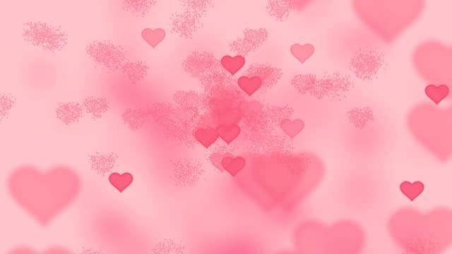 Valentine Hearts Abstract Pink Hintergrund