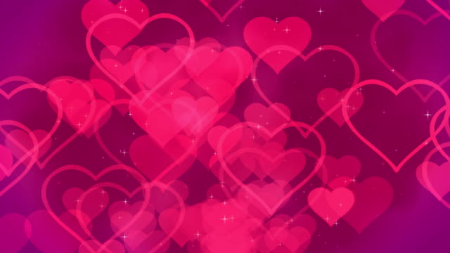Valentine Hearts Abstract Pink Background