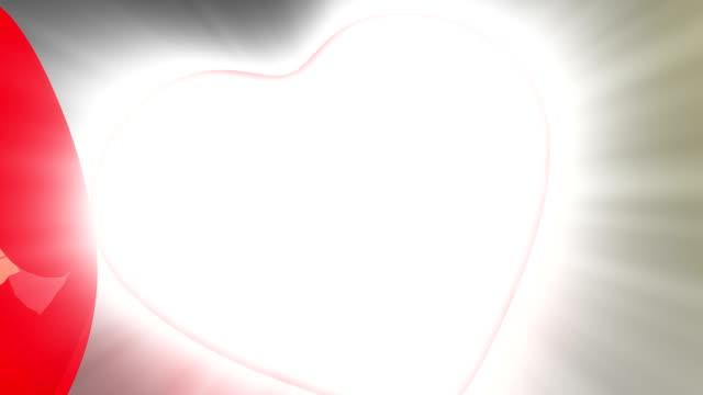 San Valentino cuore rosso apertura