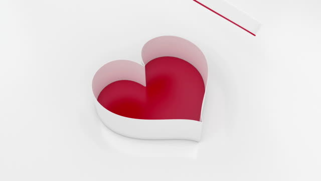 valentine white gift box - gift box stock videos & royalty-free footage