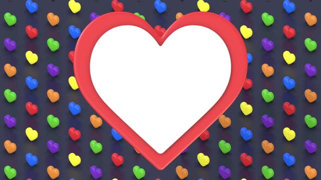 バレンタインと愛のアニメーションカード - 投影図点の映像素材/bロール
