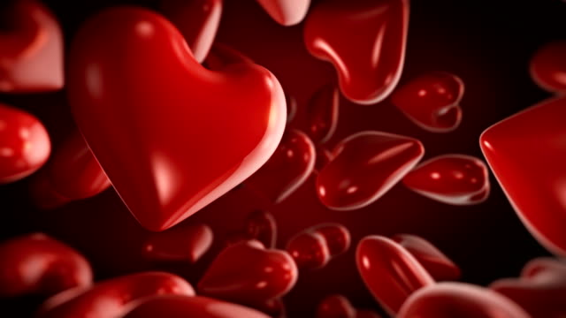 valentine's day 3d heart shape, women day, 4k animation. - desire stock videos & royalty-free footage