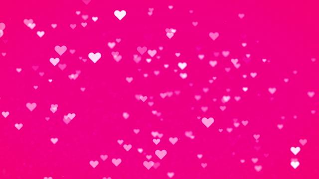 Aftelkalender voor Valentijnsdag abstracte achtergrond, vliegen hart met roze achtergrond