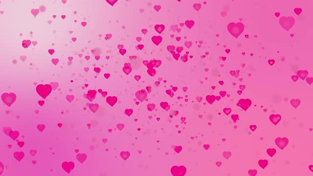 stockvideo's en b-roll-footage met valentijnsdag abstract roze achtergrond met roze rode harten voorraad video. 4k resolutie, abstract, animatie - bewegend beeld, kunstcultuur en vermaak - arts culture and entertainment