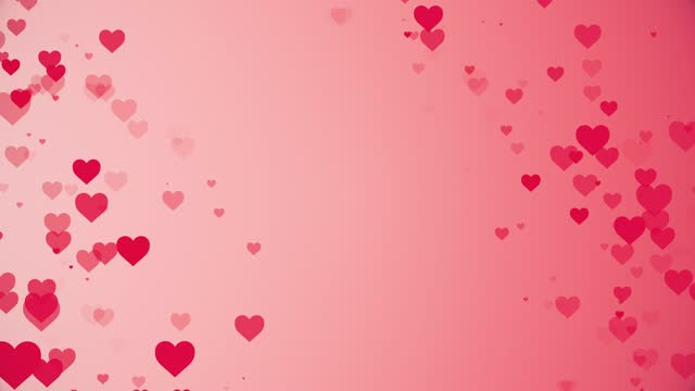 vídeos de stock e filmes b-roll de valentine's day background, heart icons moving animation, flat style love symbol, the concept of like button, bar counter, design element, emotion, social media, valentines day, happiness, pop up - elemento de desenho