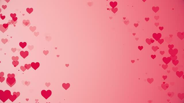 vídeos de stock, filmes e b-roll de fundo do dia dos namorados, ícones do coração movendo animação, símbolo de amor estilo plano, o conceito de botão de like, contador de barras, elemento de design, emoção, mídias sociais, dia dos namorados, felicidade, pop up - elemento de desenho