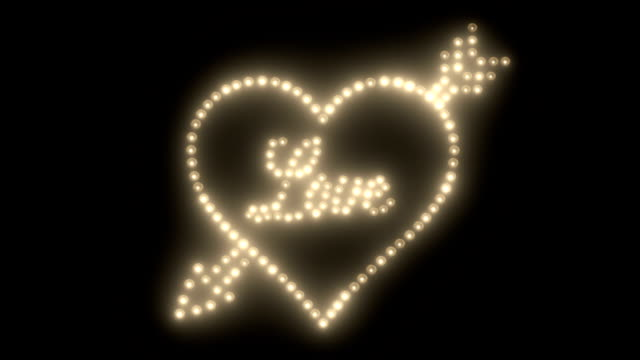 Valentine's Day Background, Light Making Heart, Light Writing Love