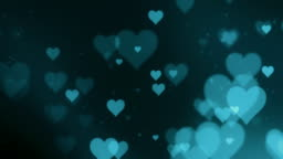 Valentines day background with hearts loop