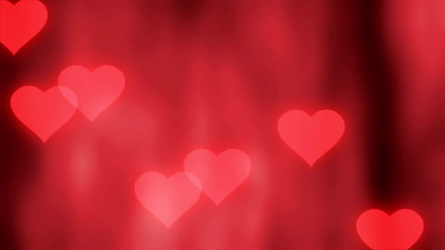 valentine's day background with hearts - valentines background stock videos & royalty-free footage